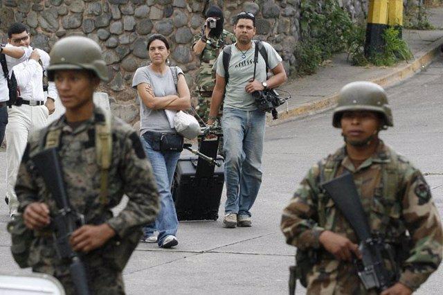 Periodistas amenazados en Honduras