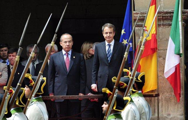 Zapatero Y Felipe Calderón