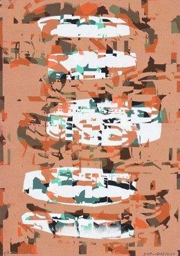 Obra De Luis Gordillo Incluida En La Muestra 'La Caravana De Colores'