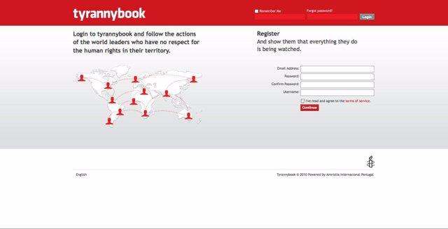 Página De Inicio De 'Tyrannybook.Com'.