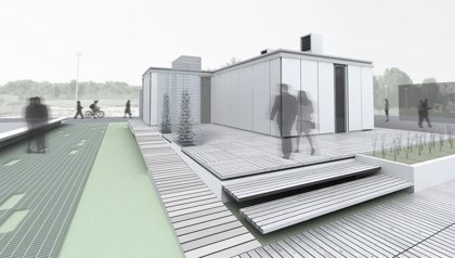 La vivienda solar gestada en la US, 'Solarkit', se expondrá desde hoy en el Muelle de las Delicias