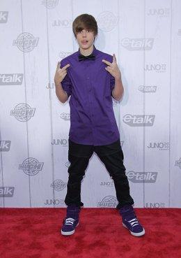El cantante Justin Bieber