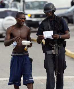 Disturbios en Jamaica, en Kingston