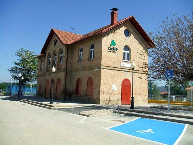 Estación de tren de Olite.