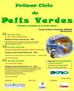 cartel Ciclo Pelis Verdes de Mérida