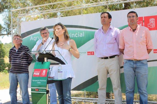 Bibiena Aído en Alcalá de los Gazules