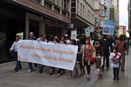 La asamblea realizó una marcha por las calles de Ferrol