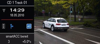 Economía/Motor.- Audi trabaja en un sistema de comunicación entre coches y señales de tráfico para evitar atascos