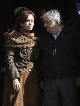 Cristina Fernández de Kirchner y José Mújica