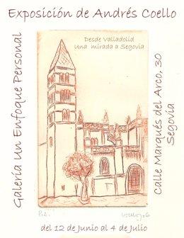 Cartel de la muestra 'Desde Valladolid, una mirada a Segovia'