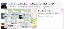 'Twitter Places', servicio de geolocalización de Twitter.