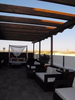 Terraza del Hotel Infanta Leonor de Écija