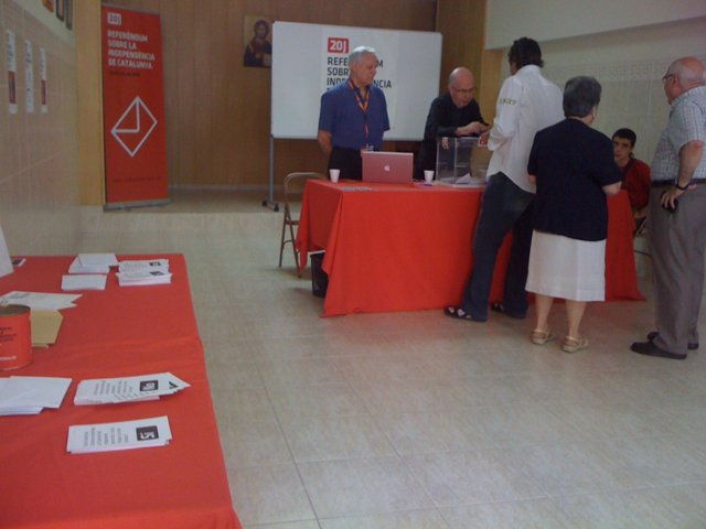Consulta soberanista en Mataró (Barcelona)