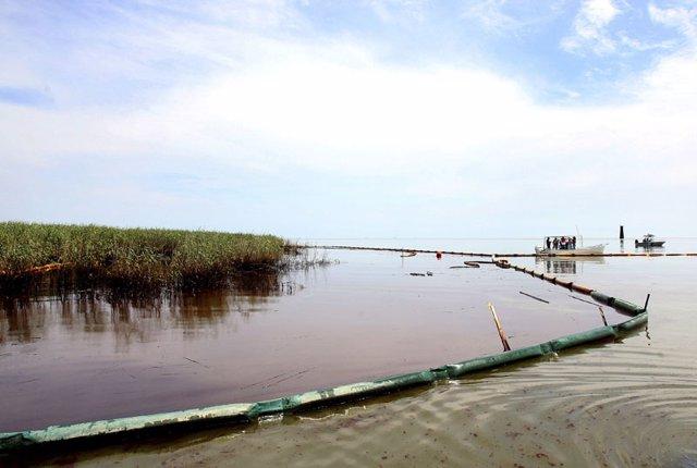 Vertido de pretróleo en el Golfo de México