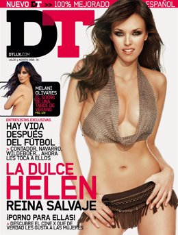 Helen Lindes en la portada de 'DT'
