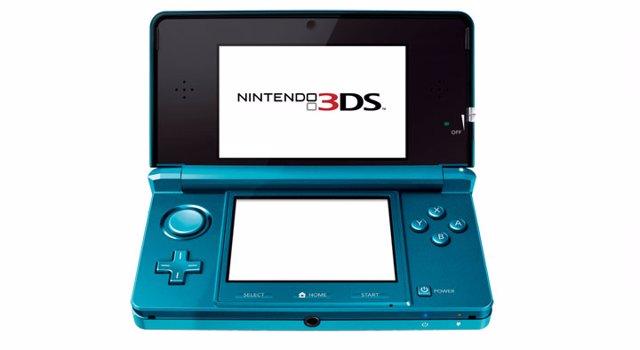 Nintendo 3DS en azul