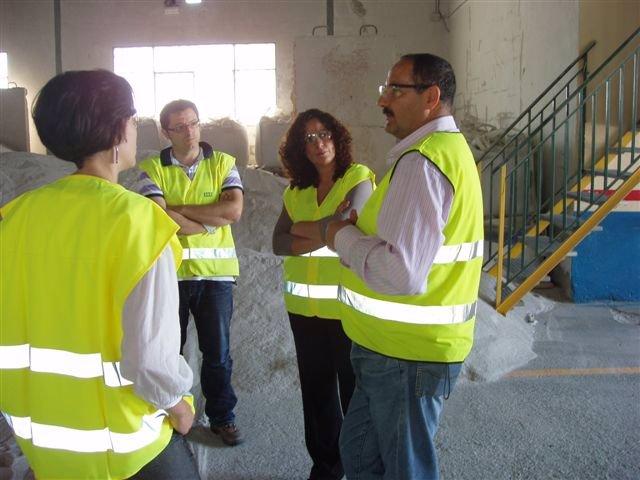La delegada provincial de Economía e Innovación, Sonia Rodríguez, en la visita a