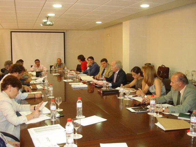 Miembros del Consejo Social de la UHU en la última reunión plenaria del curso 20