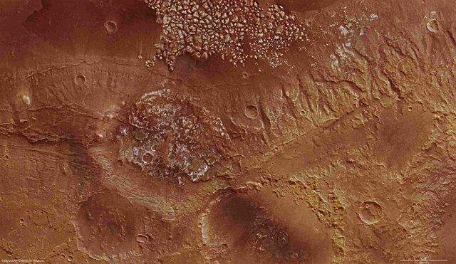 Cráter de Magallanes, en Marte
