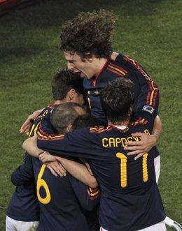 España gana a Chile
