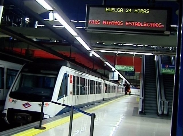Metro Madrid anuncia servicios mínimos