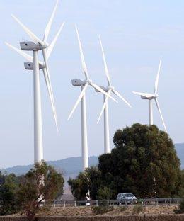 Molinos de energía eólica en Andalucía