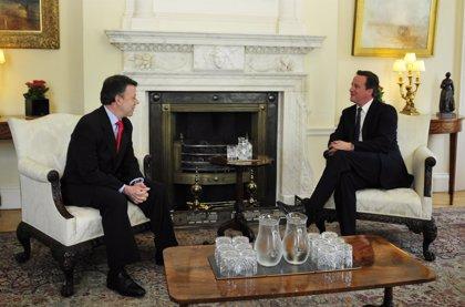 Colombia/R.Unido.- Cameron felicita a Santos por el avance de Colombia en materia de Derechos Humanos