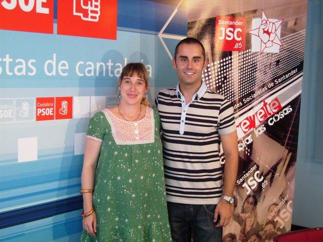 José María Gómez, nuevo secretario general de JSS, con Gómez de Diego