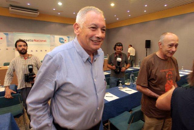 Guillerme Vázquez, portavoz nacional del BNG, y Francisco Rodríguez, líder de la