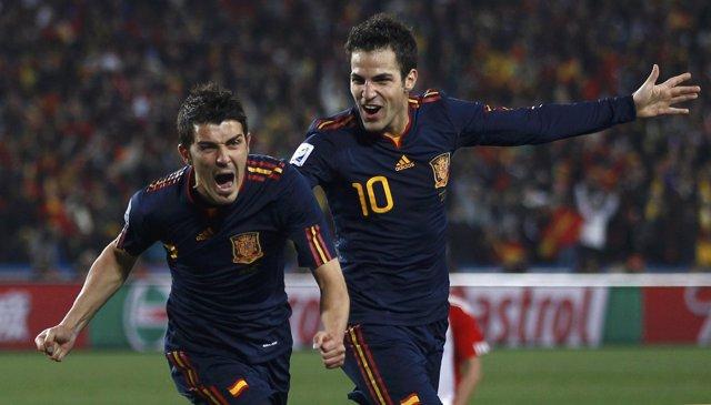 El jugador de la selección española David Villa