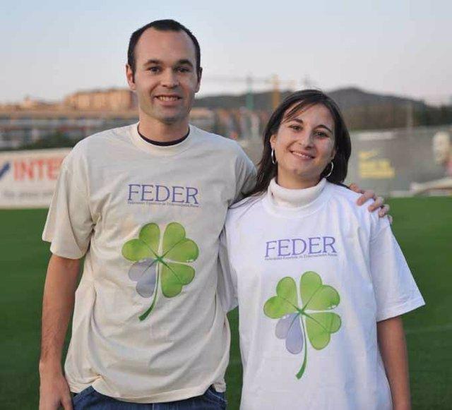 Iniesta colabora con la Federación Española de Enfermedades Raras