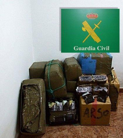 La Guardia Civil de Ciudad Real incauta más de 400 kilos de hachís en la A-4, a la altura de Manzanares