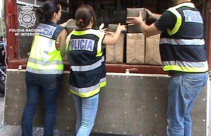 Intervenidos 1.500 kilos de hachís en la capital y detenidos ocho presuntos narcotraficantes