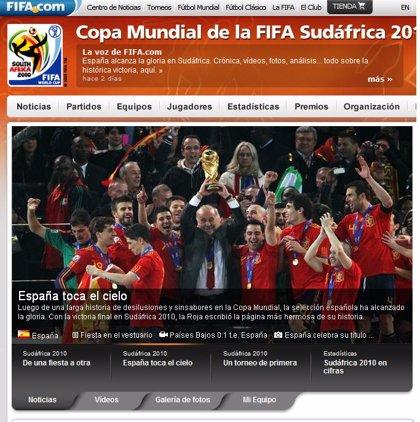 La Fifa bate récords con su web durante el Mundial