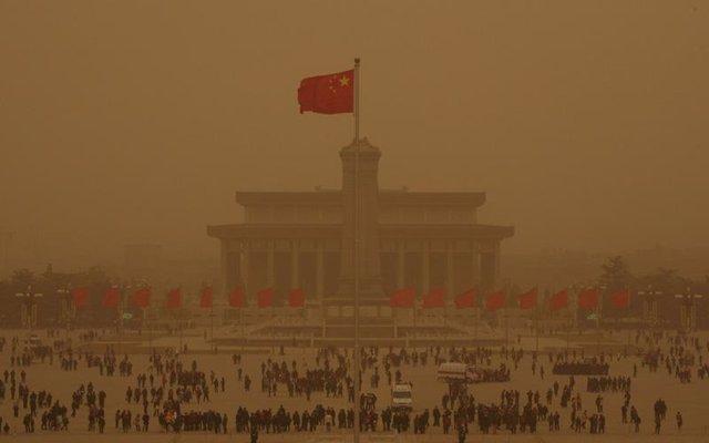 Tormenta de arena en Pekín