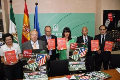 Betis y Atlético jugarán el 24 de julio un partido solidario contra la violencia de género