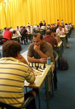 Algunos de los participantes en el campeonato de ajedrez