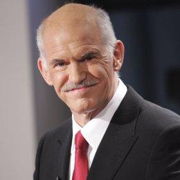 George Papandreu, líder del partido socialista de Grecia