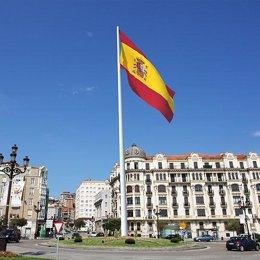 Bandera de España en Puertochico