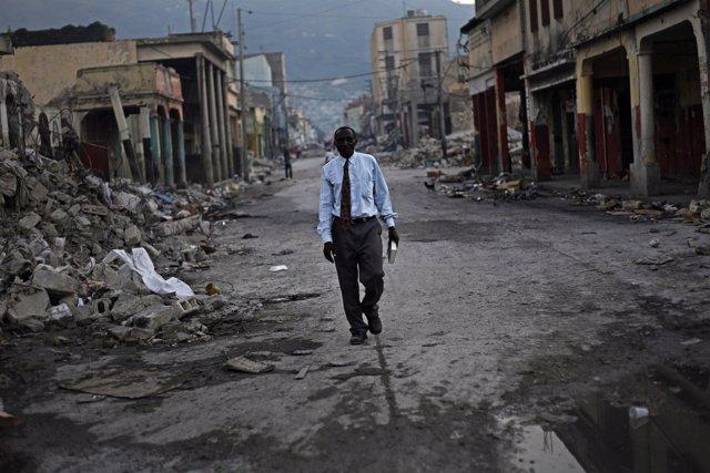 Fotoperiodismo terremoto de Haití