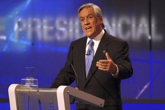 El candidato presidencial chileno Sebastián Piñera