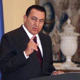 Mubarak Hosni Presidente egipto visita españa moncloa
