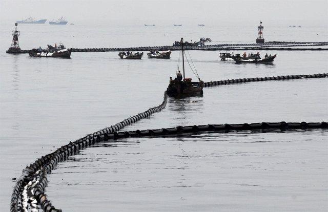 Vertido de petróleo en China