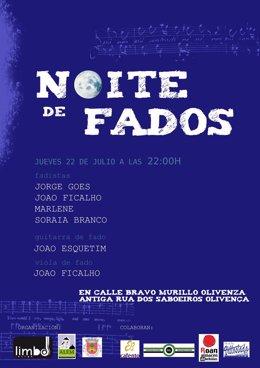 """Nota De Prensa """"Noite De Fados"""""""