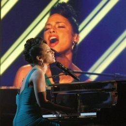 Actuación de Alicia Keys al piano