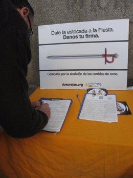 firmas contra corridas de toros