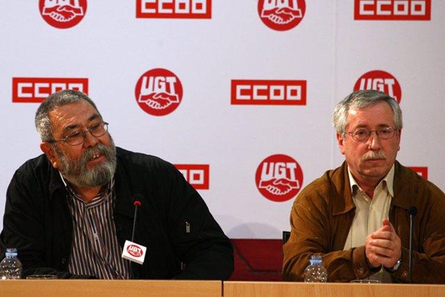Toxo y Méndez confirman que la huelga general será el 29 de septiembre