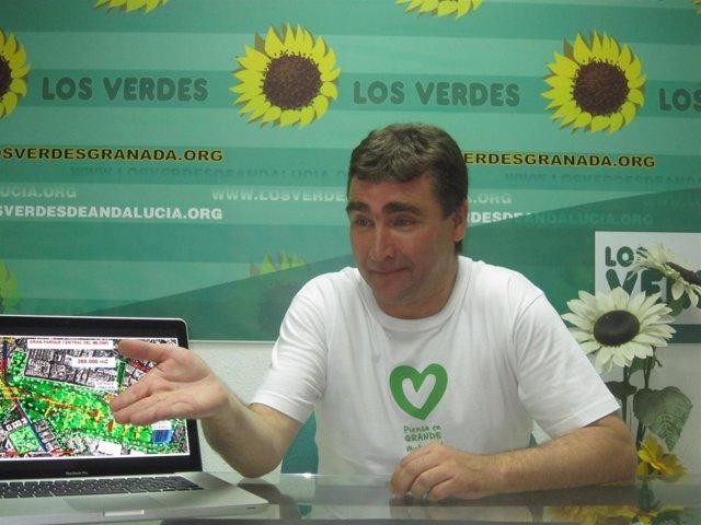 El portavoz de Los Verdes de Andalucía, Mario Ortega