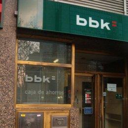 bbk caja ahorros bilbao vizcaya kutxa oficina logo