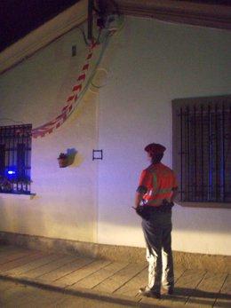 Exterior de la vivienda en la que se produjo el accidente.